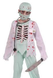 forum kids zombie skeleton surgeon evil doctor halloween costume