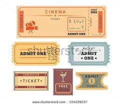 retro ticket template set template vector stock vector 224229037