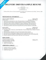 Delivery Driver Resume Example Delivery Driver Sample Resume Here Is Delivery Driver Template