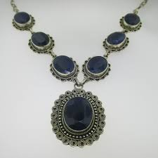 natural sapphire necklace images Sterling silver bjc samuel behnam jewelry corp natural sapphire jpg
