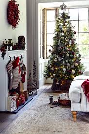 35 Christmas Tree Decoration Ideas by John Lewis 7ft Cooper Pine Tree 150 Red Berry Wreath 35 Wooden