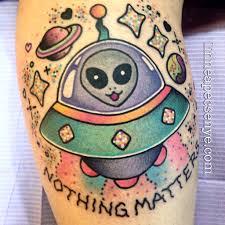 nihilisa frank inspired ufo tattoo by linnea pecsenye