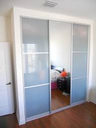 Closet Panel Doors Bedroom Built In Trends Also Attractive Mirrored Sliding Closet