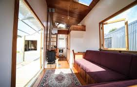 Tiny House Living Room by Off Grid Tiny Dwelling Is Inspired By Boat Design Treehugger