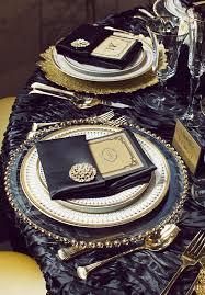 Black Gold Wedding Decorations Of Elegant Black And Gold Wedding Ideas 24