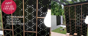 Decorative Panels by Outdoor Screen Range Outdeco Outdoor Decorative Screen Panels