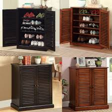Large Shoe Cabinet With Doors by Modern Bedroom With Contemporary Style Shoe Cabinet Walnut Louver