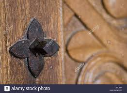 detail door metal castle ancient chateau iron wood spain