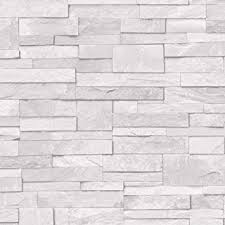 light grey brick tiles 3d slate stone brick effect wallpaper washable vinyl light grey