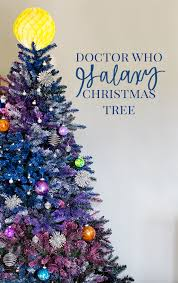 themed christmas diy doctor who galaxy christmas tree outer space christmas tree