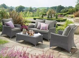 hartman rattan weave lounge sofa set in slate stone