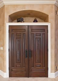 interior door custom double solid wood with white paint finish