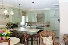 Green Cabinet Kitchen Green Kitchen Cabinets Kitchen Eclectic With Beige Tile Backsplash