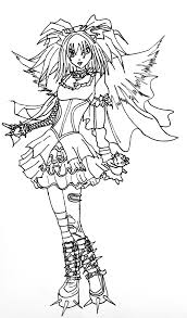 gothic fairy coloring page free download