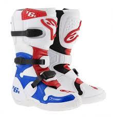 motocross boots alpinestars alpinestars tech 6s youth boot white blue red motocross equipment