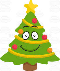christmas tree clipart smiling pencil and in color christmas