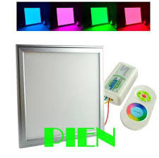 flat square ceiling lights rgb 600x600 mm 2 4g led ceiling light flat square panel l 36w