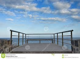 Balcony Banister Stainless Steel Balcony Banister To Atlantic Ocean Stock Photo