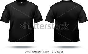 black tshirt design template front back stock vector 25832191