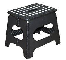 stool folding step 11inch jeronic plastic black kitchen strong