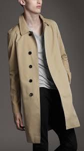 burberry london men mid length cotton gabardine car coat men s