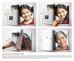 Magazines For The Blind National Association For The Blind Print Advert By Ddb Donate