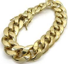 cuban bracelet images 10k yellow gold hollow cuban bracelet 9 inch 15 50mm jpg