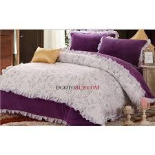 Plum Duvet Cover Set Cute Purple And White Floral Cotton 4 Piece Duvet Cover Set Buy