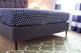 How To Build A Platform Bed With Legs by Craftyc0rn3r Converting A Box Spring Into A Platform Bed