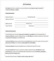 8 dj contract templates u2013 free word pdf documents download