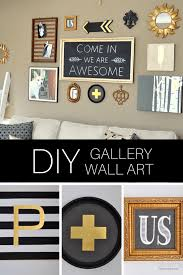 Gallery Art Wall Diy Black Gold Gallery Wall