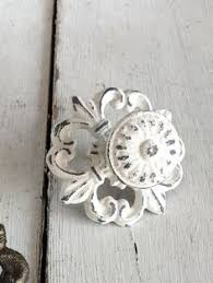 Shabby Chic Drawer Handles by 12 Misfit Knobs Shabby Chic White Kitchen Reno Cabinet Pulls