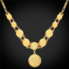 necklace pendant coin images Kpop pendant necklaces jewelry ancient coin money symbol yellow jpg