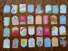 gift tags made from old greeting cards recycling repurposing