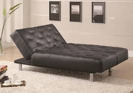 Tufted Leather Chaise Oversized Chaise Lounge Chair Black Leather Tufted With Chrome