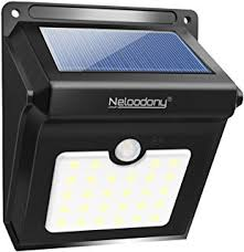 self contained motion detector light binval 20 led motion sensor security wall light solar powered
