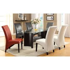 Colored Leather Dining Chairs Dining Room Classy Gray Leather Dining Chairs Cream Leather