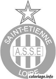 coloriage foot logo as saint etienne dessin