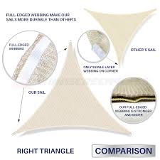 Canopy Triangle Sun Shade by Orange Right Triangle Sun Shade Sail Fabric Cover Patio Awning