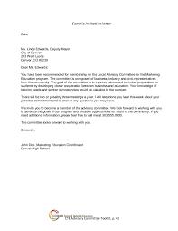 57 example of an invitation letter for visa visa application
