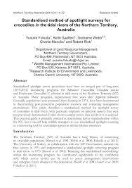 standardised method of spotlight surveys pdf available