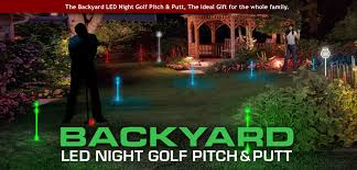 backyard putting green lighting backyard golf set night sports usa