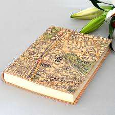 Leather Map Personalised Map Leather Journal By Atlas U0026 I Notonthehighstreet Com