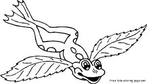 frog angel wings tattoo coloring pages kidsfree printable