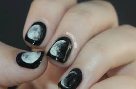 45 and popular half moon nail ideas canvas