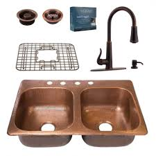 luxury copper kitchen faucets best kitchen faucet sinkology pfister all in one copper kitchen sink 33 in 4 hole