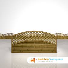 convex arched lattice top fence panels 3ft x 6ft brown berkshire