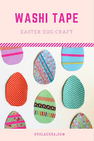 washi tape easter egg craft for kids by claudya
