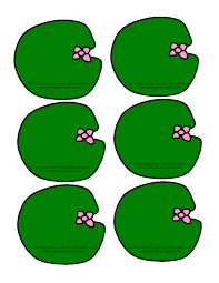printable frog lily pad cut outs clip art library