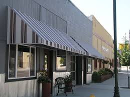 Striped Awning Msta Commercial Awnings